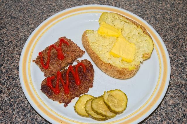 Sriracha cube steak & potato