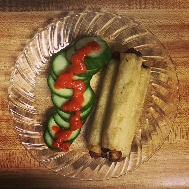 Cucumber and Spring Roll