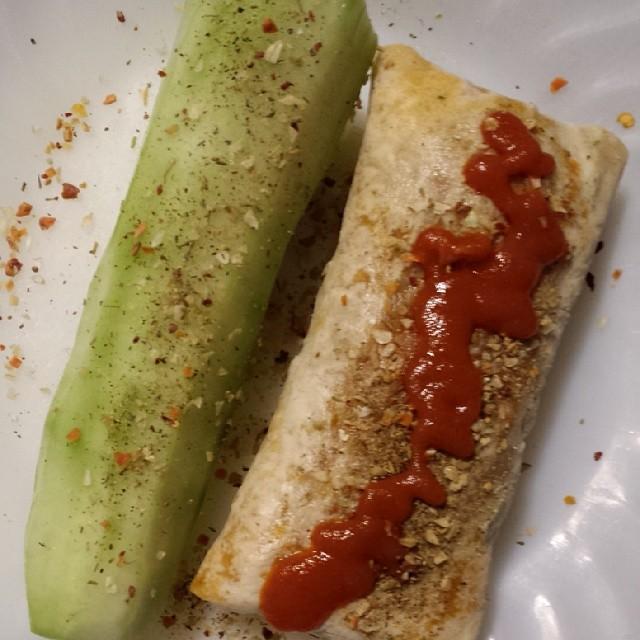 Amys Burrito and Cucumber