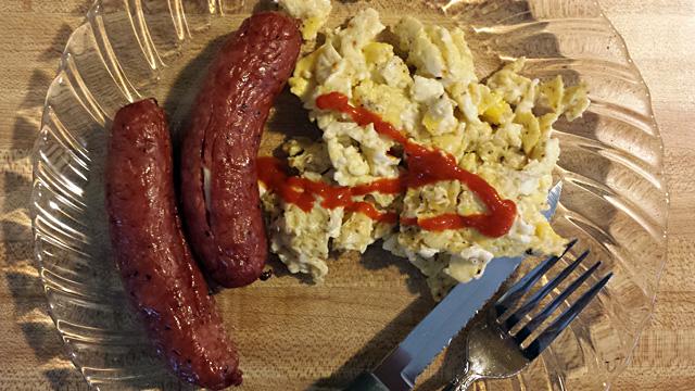 Sausage and Scrambled Eggs