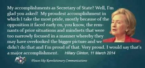 accomplished hillary