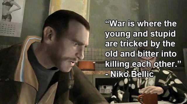 niko bellic on war