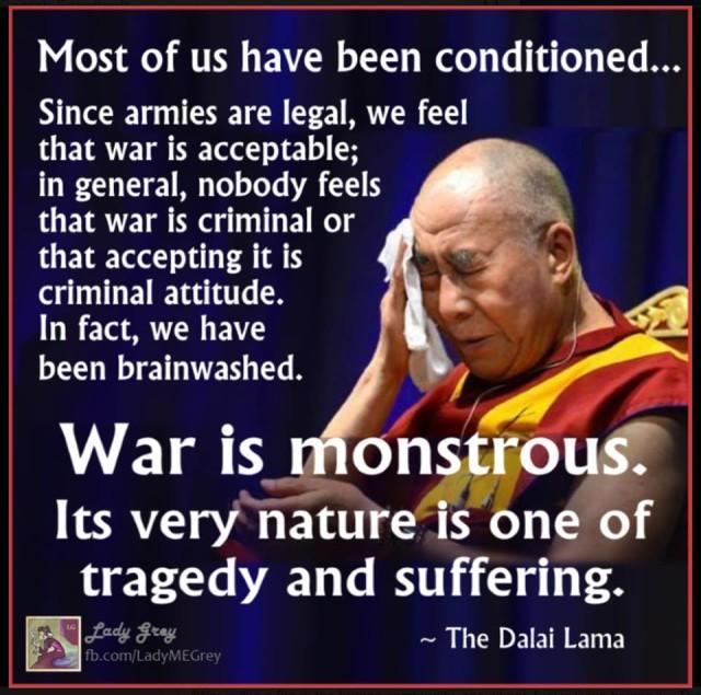 dalai lama war monstrous
