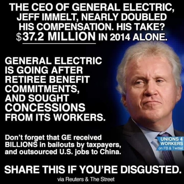GE CEO pay