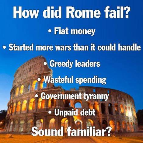 y did rome fail