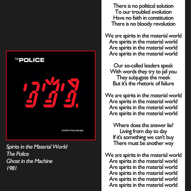police spirits in the mateiral world