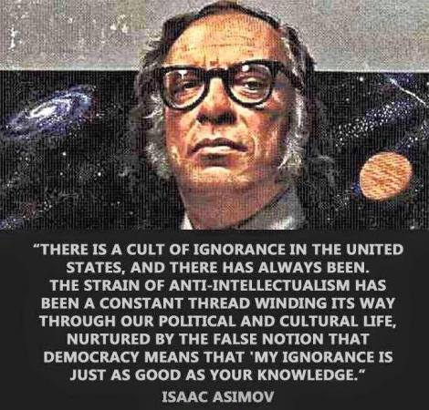 Asimov Cult of Ignorance