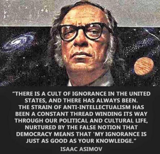 Asimov Cult of Ignorance